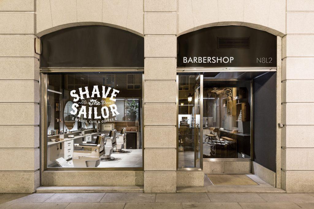 Fotografía tienda barbería, barbershop N8L2