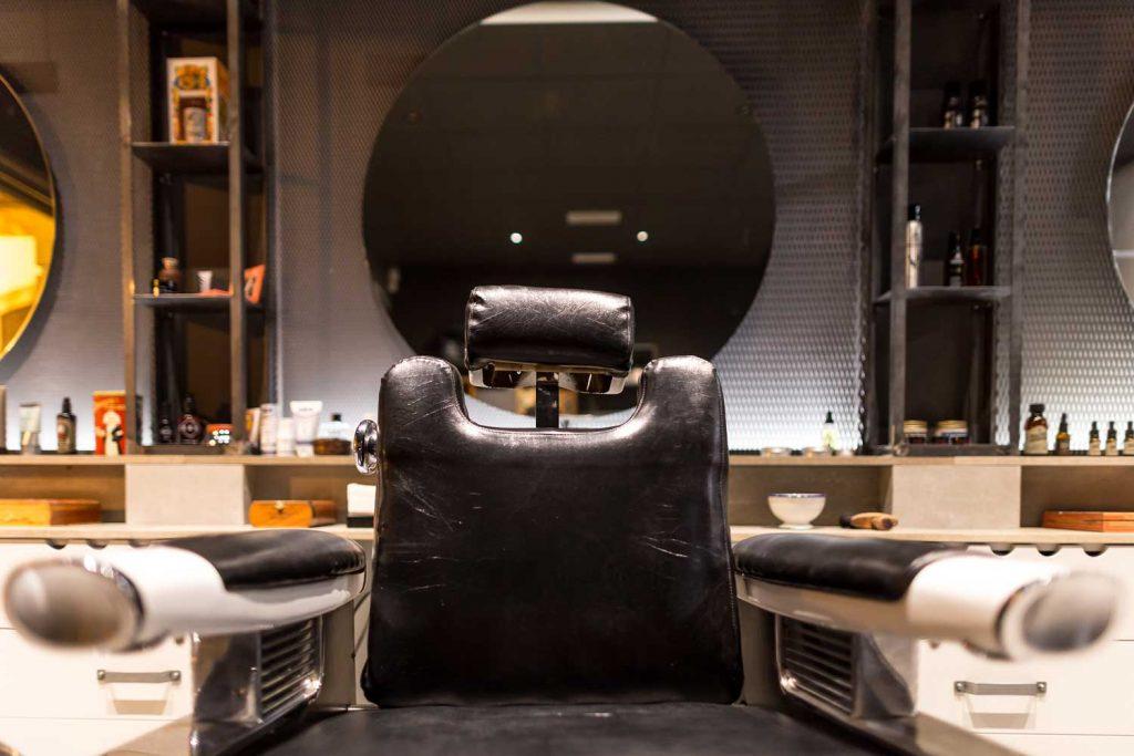 textura piel sillón barbería Vigo